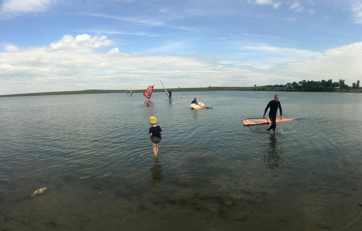 Cursuri windsurf pe lacul Fundata